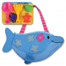 Stephen Joseph - Strandtaske med sandlegetøj - Delfin
