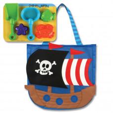 Stephen Joseph - Strandtaske med sandlegetøj - Pirat