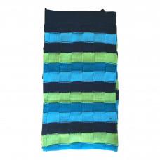Strikket babytæppe - Stribet - Blå