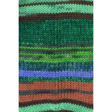 Gründl - Hot Socks Diamond - Strømpegarn - Grønne nuancer
