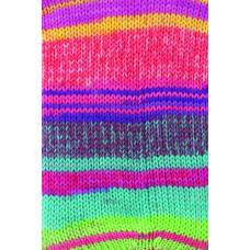Gründl - Hot Socks Diamond - Strømpegarn - Pink og turkis farver