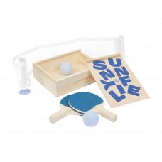 SunnyLife - Bordtennis rejse sæt - Ping pong - Blå