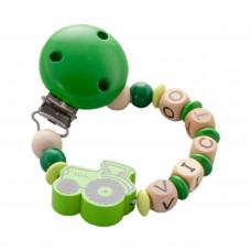 DIY - Lav selv suttekæde i træperler - Grøn med traktor
