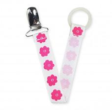 Suttesnor - Hvid med pink blomst
