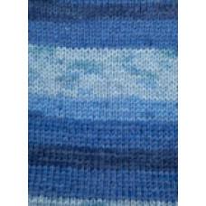 Svarta Fåret - Frost - Strømpegarn - Multiblå