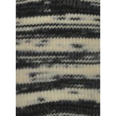 Svarta Fåret - Frost - Strømpegarn - Multi sort/hvid