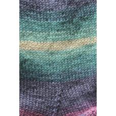 Svarta Fåret - Frost - Strømpegarn - Turkis og lilla multi