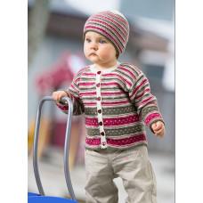 Svarta Fåret - Strikkeopskrift - Baby cardigan og hue