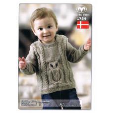 Svarta Fåret - Strikkeopskrift - Baby trøje med ugle