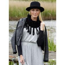 Svarta Fåret - Hækle opskrift - Lækkert Halstørklæde i Super soft