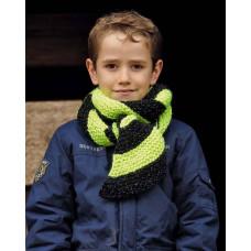 Svarta Fåret - Strikkeopskrift - Diagonalstribet børne halstørklæde