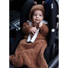 Svarta Fåret - Strikkeopskrift - Baby kørepose