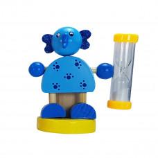 Tandbørsteholder til børn med timer - Elefant