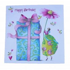 Lykønskningskort - Fødselsdagskort - Kæmpe gave