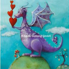 Lykønskningskort - Fødselsdagskort - Sweetheart Drage