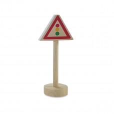 Vejskilte I Træ Til Bilbane -  Lyssignal
