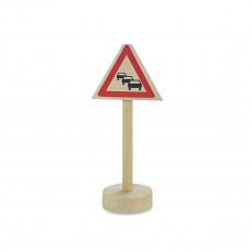Vejskilte I Træ Til Bilbane -  Risiko For Kødannelse
