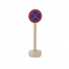 Vejskilte I Træ Til Bilbane - Standsning Forbudt