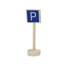 Vejskilte I Træ Til Bilbane - Parkering