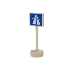 Vejskilte I Træ Til Bilbane - Motorvej