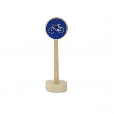 Vejskilte I Træ Til Bilbane - Cykelsti blå
