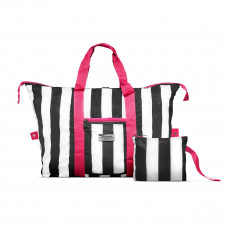 Gillian Jones - Travel Bag - Weekend taske - Sports taske - Sort, hvid og pink
