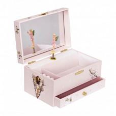 Trousselier - Smykkeskrin selvlysende med musik - Blomster fe - Pale pink