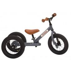 Trybike - Trehjulet løbecykel med retro look - Antracitgrå