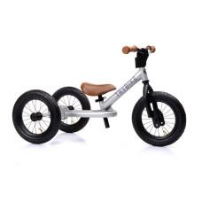 Trybike - Trehjulet løbecykel med retro look - Silver