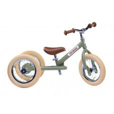 Trybike - Trehjulet løbecykel med retro look - Vintage green