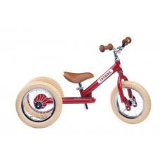 Trybike - Trehjulet løbecykel med retro look - Vintage red
