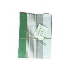 Solwang Design - Viskestykke -  Rød, grøn & hvid